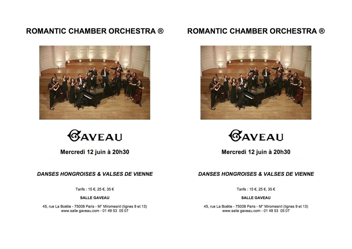 2019 Romantic Chamber Orchestra Weigel Flyer