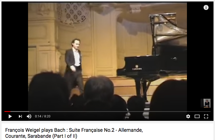 Bach : French Suite No.2 (Part I of II)