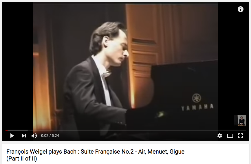 Bach : French Suite No.2 (Part II of II)