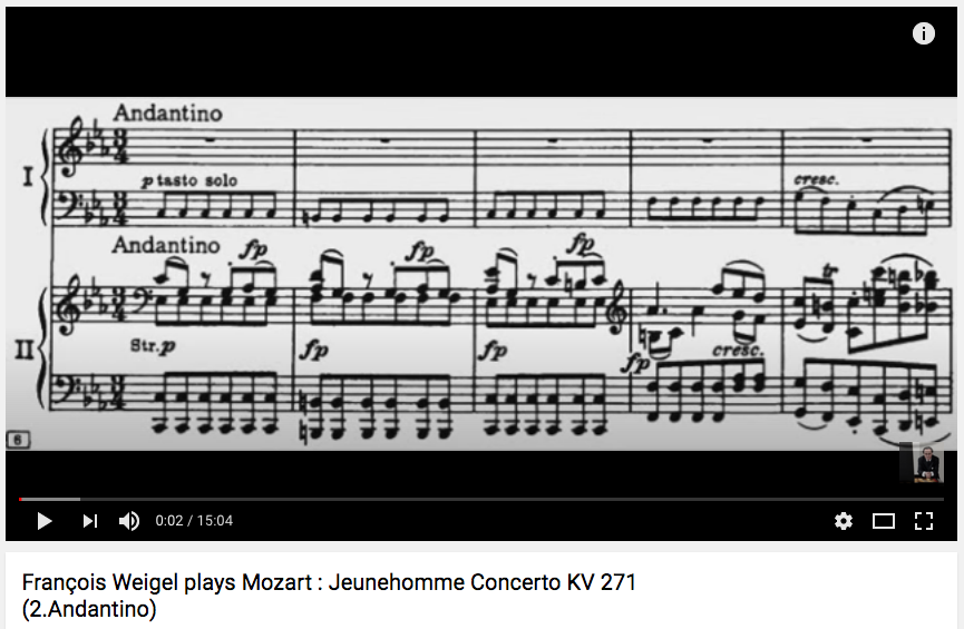 Mozart : Jeunehomme Concerto (2. Andantino)
